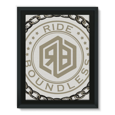 Chain and logo Framed Canvas
