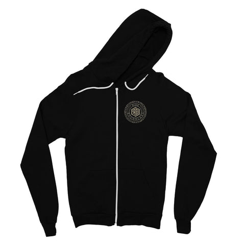 Chain and logo Fine Jersey Zip Hoodie