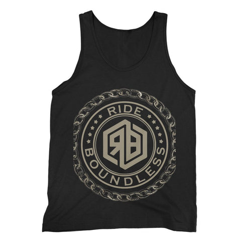 Chain and logo Fine Jersey Tank Top