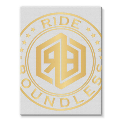 Ride Boundless Gold Stretched Canvas