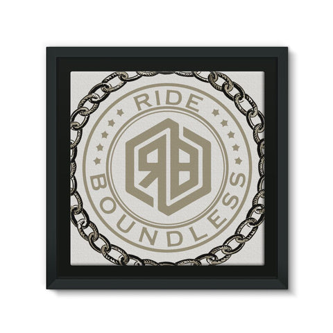 Chain and logo Framed Eco-Canvas