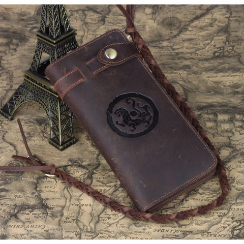 Vintage Handmade Wallet (Cowhide Leather)