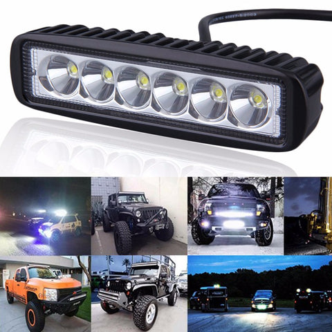 Motorcycle LED Bar (18W 6 LEDs - 12V 24V )