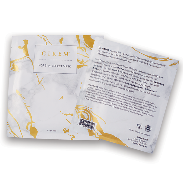 HCR 3-IN-1 Sheet Mask <br><i>MSRP $27.50</i>