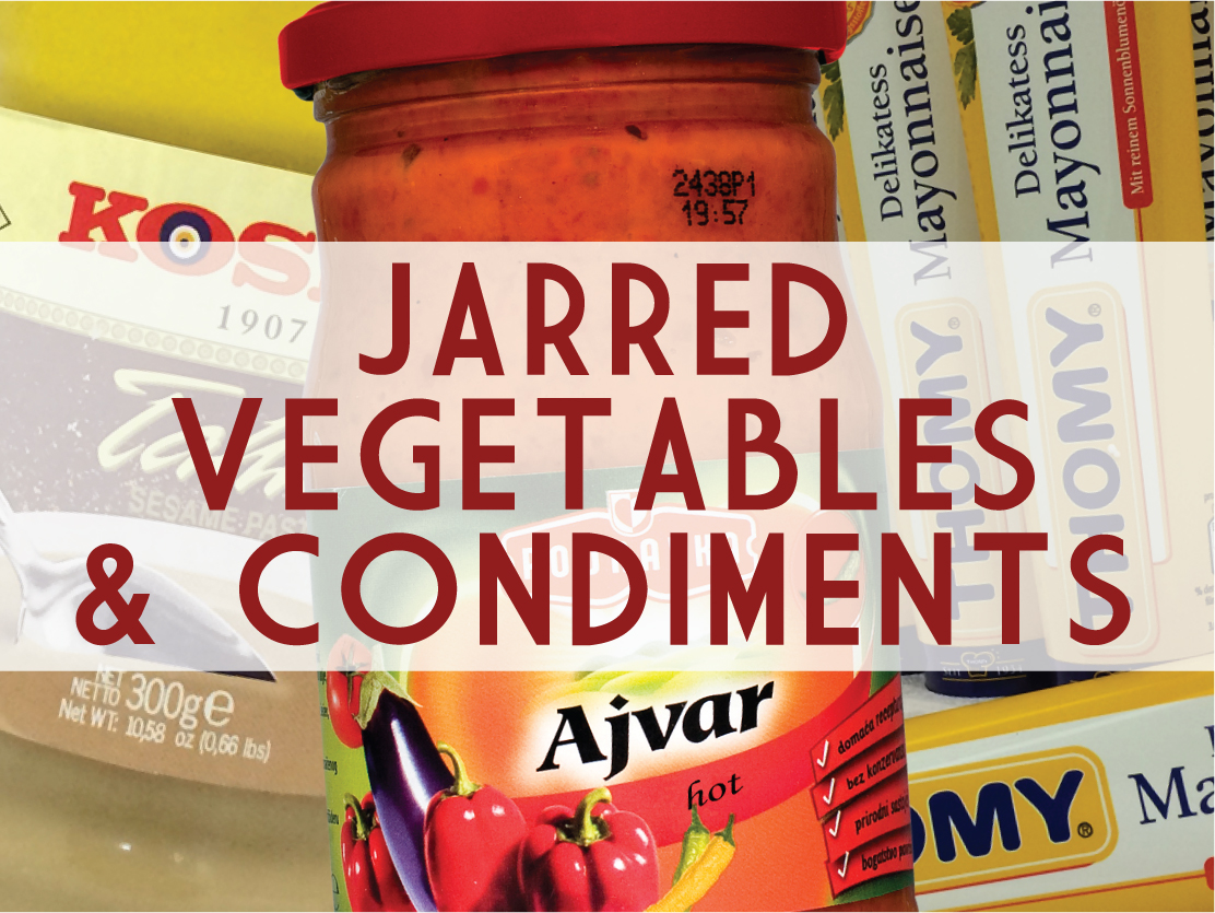Jarred Vegetables & Condiments