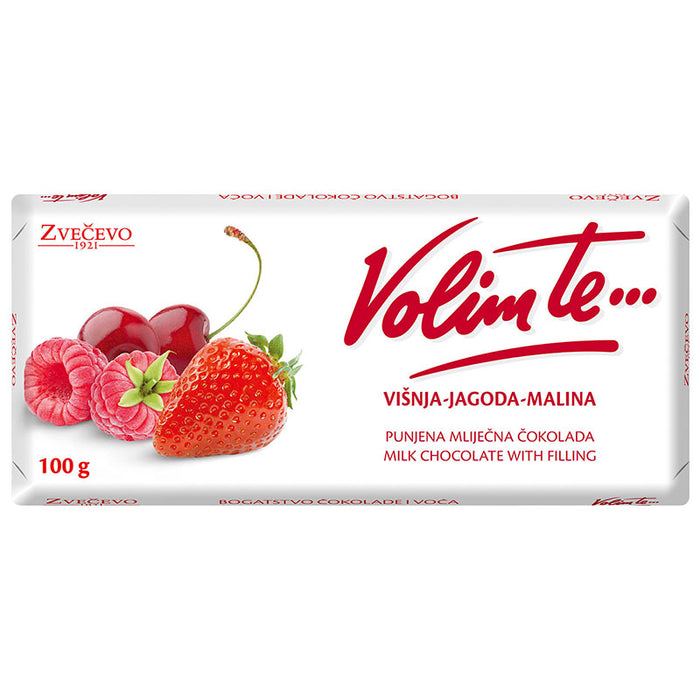 Zvecevo Volim ti Cherry Strawberry Chocolate