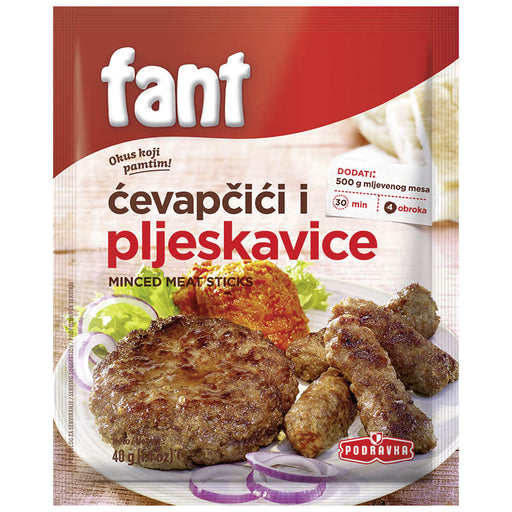 Podravka Fant Minced Meat Sticks & Hamburger Seasoning Mix