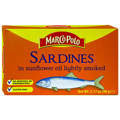 Marco Polo Sardines in Sunflower Oil (Lightly Smoked)