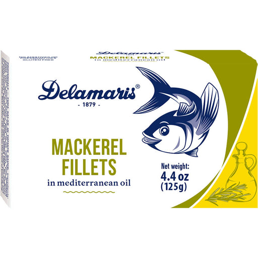 Delamaris Mackerel Fillets in Mediterranean Oil