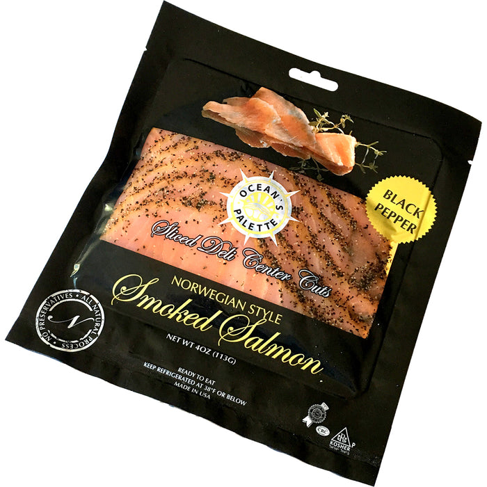 Ocean's Palette Norwegian Style Black Pepper Smoked Salmon