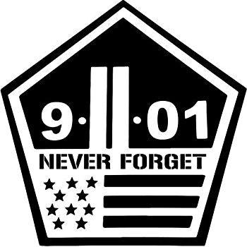 9/11 Never Forget Decal Vinyl Sticker