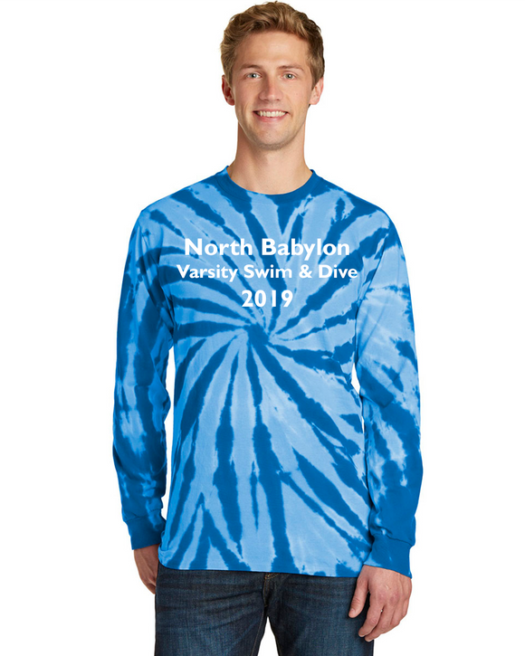 North Babylon Long Sleeve Blue Tie-Dye w/o Name on Back