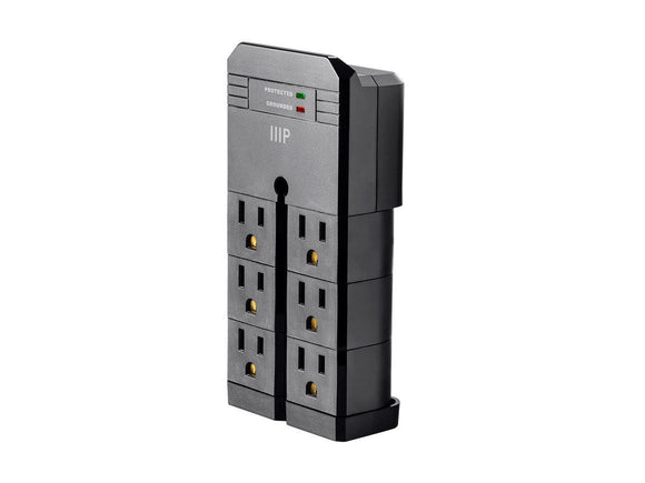 Surge Protector - Six (6) Outlet Rotating Wall Tap With Surge Protectors (ships Within The US Only)