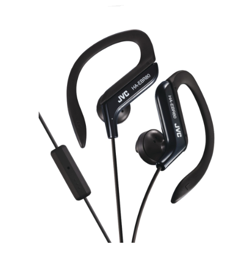 Ear-Clip Earphones - JVC HAEBR80B In-Ear Sports Headphones With Microphone And Remote (ships Within The US Only)