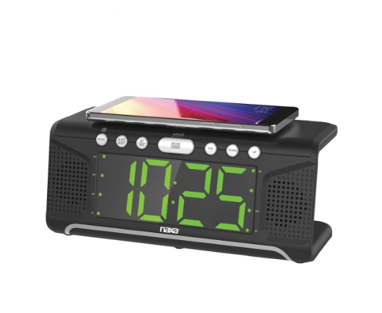 Dual Alarm Clock Charger - Dual Alarm Clock With Qi Wireless Charging (ships Within The US Only)