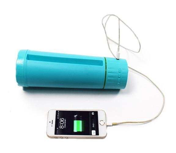 Speaker Charger - Multi-functional Smart Water-bottle, Power Bank, Bluetooth Speaker And Phone Holder