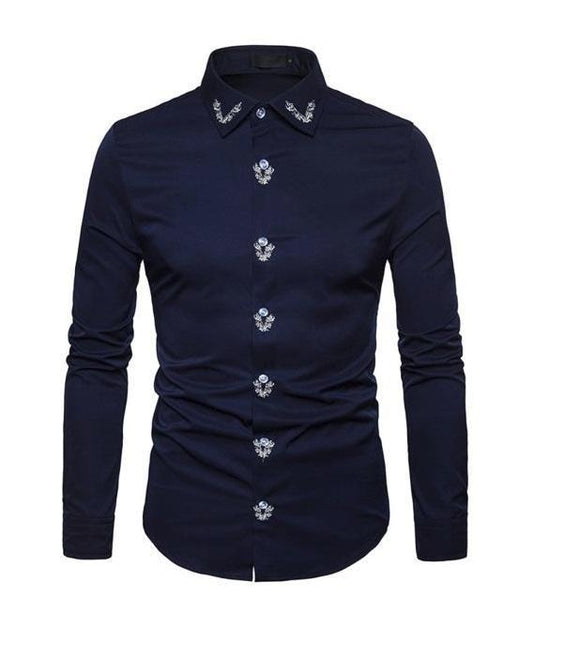 Formal Shirt - Men's Solid Colored Slim Fitting Formal Shirt