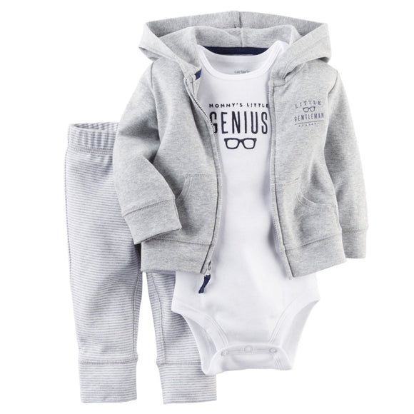 Baby Clothes - Casual Newborn Sweatshirt And Pant Set