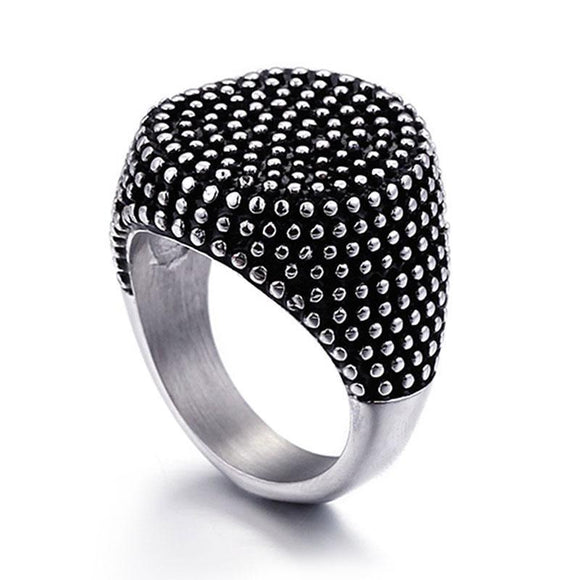 Men's Finger Ring - Men's Stainless Steel Antique Ring