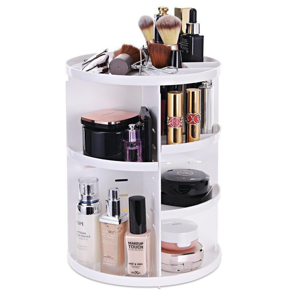 Cosmetic Caddy - 360 Degree Rotating Detachable Makeup Caddy