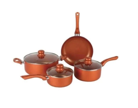 Nonstick Cookware Set - Seven (7)Piece Brentwood Nonstick Copper Cookware Set (ships Within The US Only)