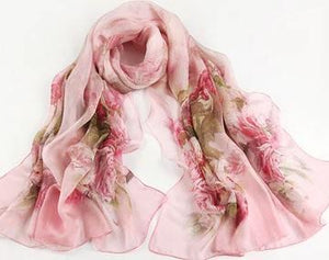 Scarf - Extra Large Silky Voile Scarf For Women