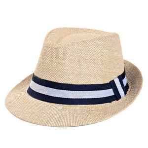 Fedora Hat - Jazzy European Straw Trilby Hat For Men