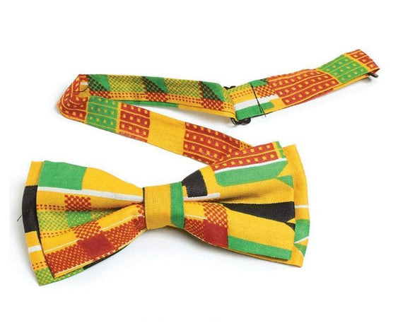 Kente Bowtie - Authentic African Kente Bowtie