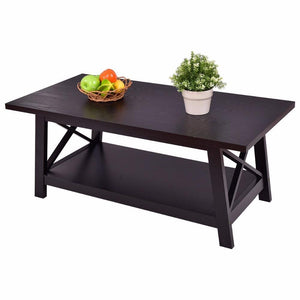 Center Table - Rectangular Center Table With Storage Shelf