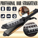 Flat Iron Hair Straightener - Four-gear Temperature Adjustment Ceramic Tourmaline Ionic Flat Iron Hair Straightener