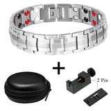 Energy Bracelet - Bio-Healing Magnetic Stainless Steel Energy Bracelet For Men
