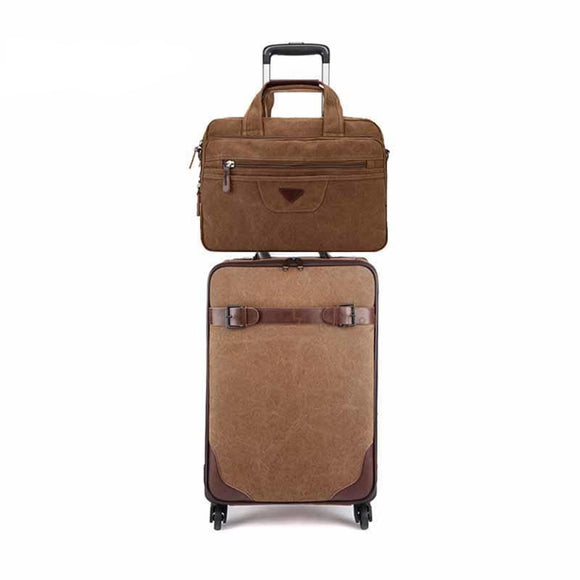 Carry-on Set - Classic Urban Carry-on Travel Bag And Business Laptop Bag