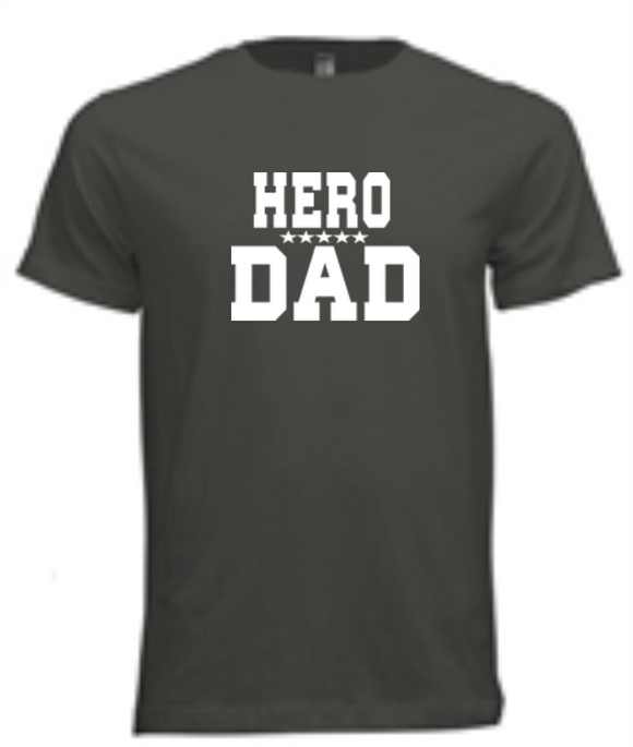 T-Shirts - Hero Dad - Men's Cotton T-Shirt (ships Within The US Only)