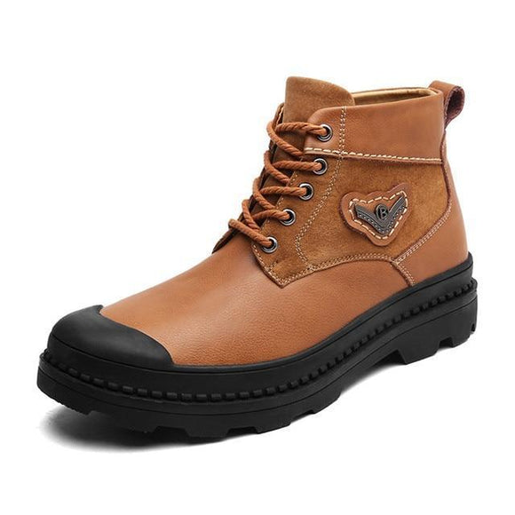 Men's Boots - Genuine Leather Winter Ankle Boots