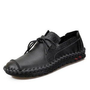 Men's Shoes - Casual Handmade Genuine Leather Men's Soft Flats