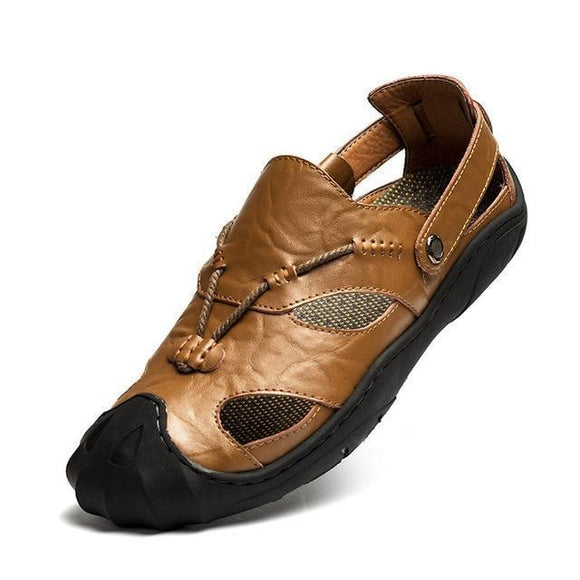 Men's Sandals - Anti-Skid Genuine Leather Handmade Summer Sandals