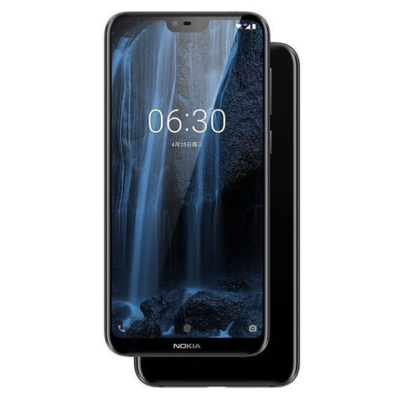 Smartphone - Nokia X6 2018, Dual SIM, 64GB ROM 4GB RAM, TF Card, 16.0MP Front Camera