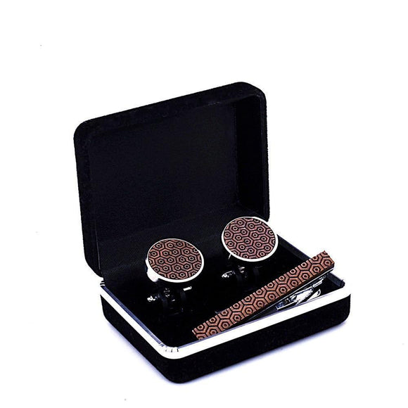Wood Tie Clips And Cufflinks Set - Engraved Wood Tie Clips And Cufflinks Set