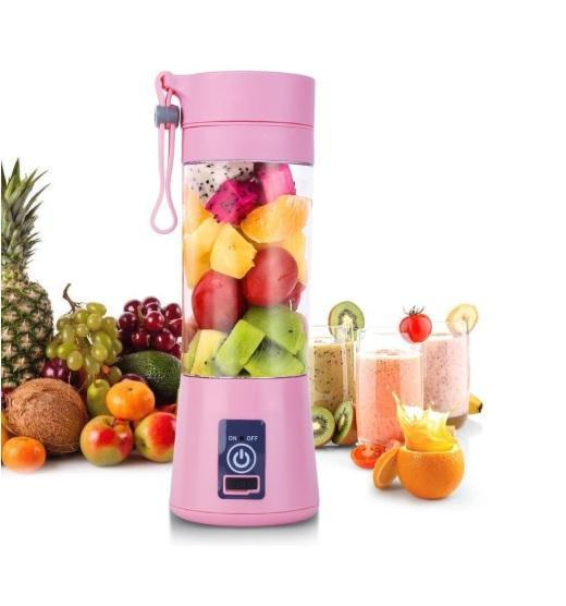 Electric Fruit Juicer - USB Rechargeable 380ml Mini Portable Electric Fruit Juicer