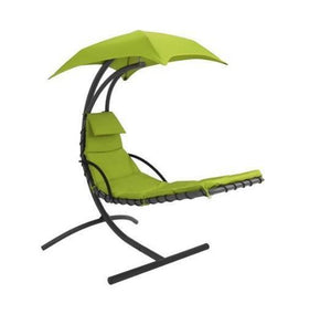 Patio Furniture - Floating Chaise Lounger Chair With Canopy Umbrella (ships Within The US Only)