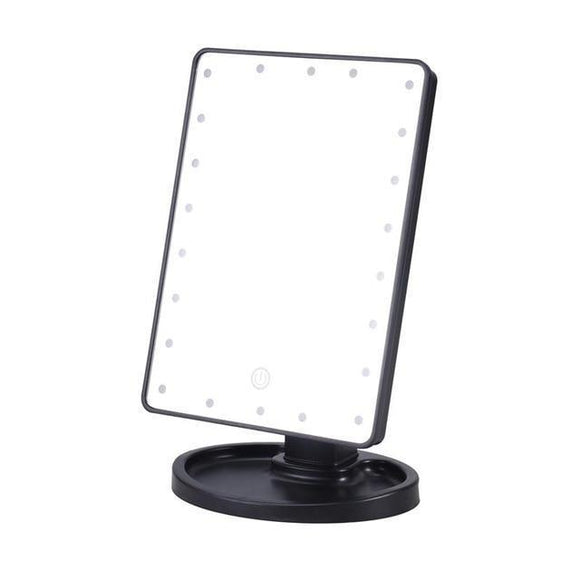 Makeup Mirror - Dim-able 180 Degree LED Touch Screen Lighted Makeup Mirror