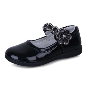 Girls Shoes - Patent Rhinestone Princess School Shoes For Girls
