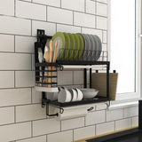 Organizer - Stainless Steel DIY Wall Hanging Kitchen Racks And Organizer