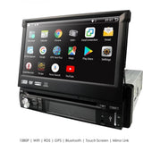 1-DIN Car Stereo - Universal 1-DIN Car Android 9.0 Quad Core DVD-player GPS Wifi BT Radio BT 1GB RAM 32GB