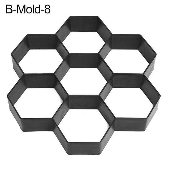 Paving Mould - Assorted DIY Paving Mould For Outdoor Concrete Floors, Driveway, Or Garden Pathway