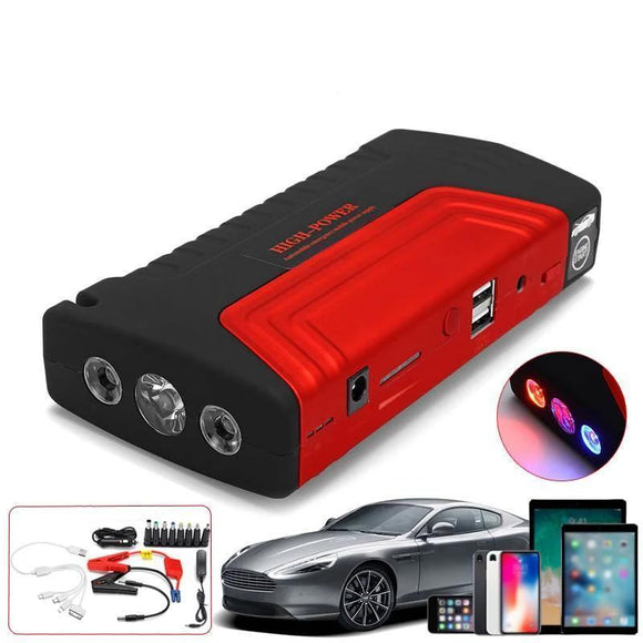 Portable Car Jump Starter - Multi-functional 68800mAh 12V 600A Portable Car Jump Starter With USB Charger