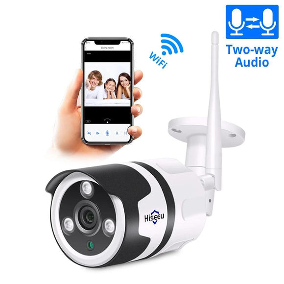 HISEEU WIFI Outdoor IP Camera 1080P and 720P Waterproof 2.0MP Wireless Security Camera