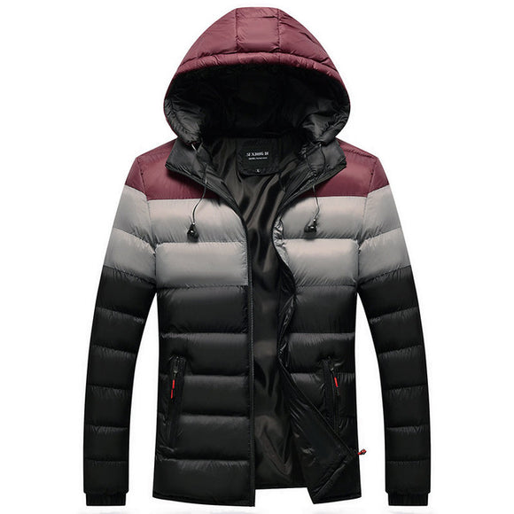 Men's Winter Parka with Earphone Cables