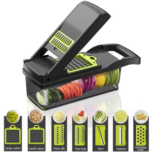 KONCO Multi-functional Vegetable and Fruits Slicer, Peeler, Cutter, Shredder and Grater
