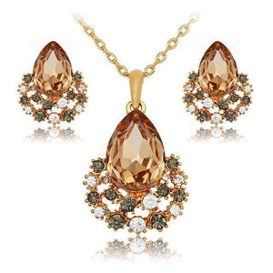 Fashion Jewelry Set - Rose Gold Crystal Fashion Jewelry Set